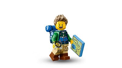 LEGO Series 16 - Hiker 71013 Minifigure Male Backpack Map Compass New