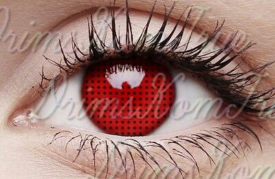 Lentille de Couleur Red Mesh Screen Rouge / Crazy,Cosplay,Halloween / 1 an