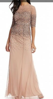 Adrianna Papell Gown Rose Gold NWT 10 Petite - Retails for $280.00