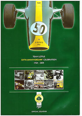 2004 Team Lotus 50th Anniverary Celebration 1954 - 2004 - Booklet