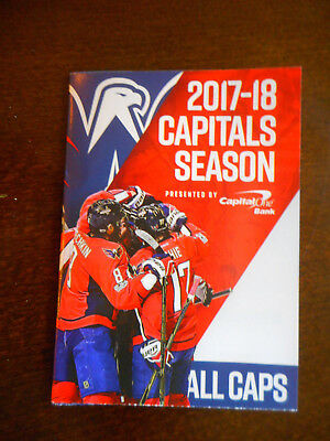 2017-18 washington CAPITALS pocket SCHEDULE regular SEASON capital ONE bank