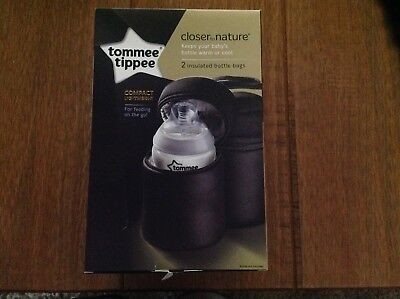 Tommee Tippee Closer to Nature Insulated Bottle Bag x 2