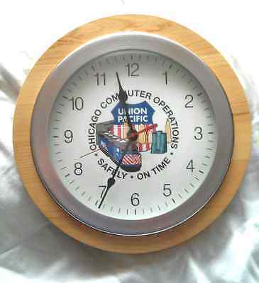 """NEW Union Pacific Metra Chicago Commuter Operations Clock """"Safely On Time""""  OOAK"""