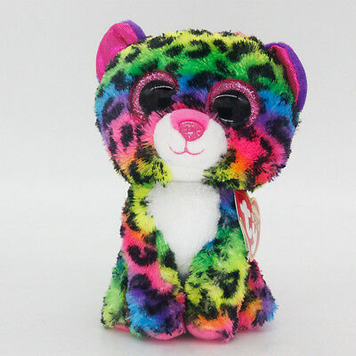 "Ty Beanie Boos 6"" Tasha Freckles Stuffed Plush Toys Child Gift For Kids Present"