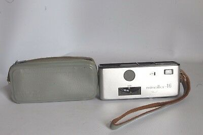 Minolta 16 Model P Sub Miniature 16 Mm Film Camera + Case Good Condition (Used)