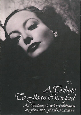 Joan Crawford 1977 Tribute Program Samuel Goldwyn Theater
