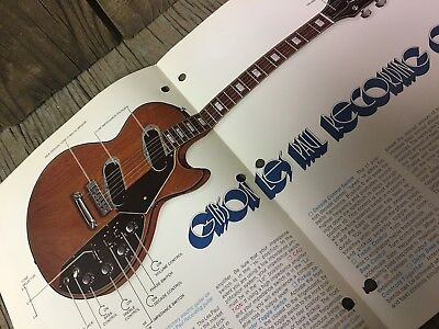 VINTAGE GIBSON LES PAUL RECORDING LITERATURE CATALOG BROCURE MANUAL case candy