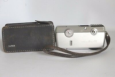 Minolta 16 Model Ee Sub Miniature 16 Mm Film Camera + Case Good Condition (Used)