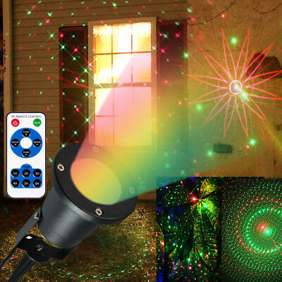 Landscape R&G Laser Outdoor Projector LED Lights Xmas Party stage  W/ IR Control