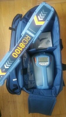 Radio Detection PDL 8100 with TX10 generator and bag.