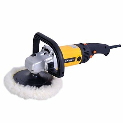 "7"" Electric Car Polisher Variable 6-speed Buffer & Sander w/ Bonnet Pad"