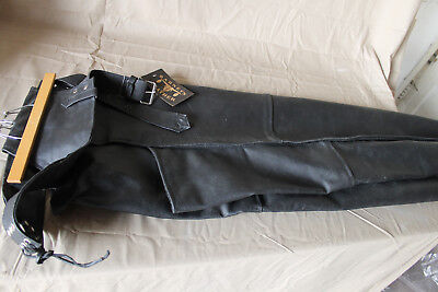 Barneys Leather Blk Chaps sz 3XL motorcycle cafe bobber Cruiser