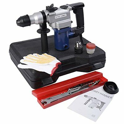850W Electric Rotary Hammer Drill SDS Chisel Kit w/ Case