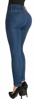 Butt Lift Skinny Jeans High Waist Push Up Authenthic Levanta Cola Colombianos