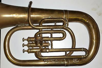 Antique R. DELACY 84 HOLLAND ROAD BRIXTON LONDON Baritone horn