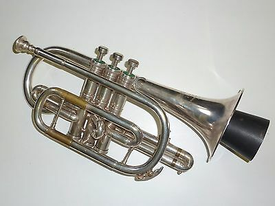 Nice silver plated Westminister Besson Made in England Cornet