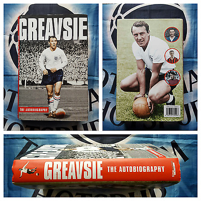 TOTTENHAM HOTSPUR Jimmy Greaves Signed GREAVSIE Book & Photo (Chelsea England) +