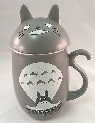 NIB My Neighbor Totoro Ceramic Mug With Lid Cat Cup Collectors RARE