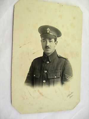 Sergeant Soldier in Army Uniform - Old WWI Military ( Dover ) Photograph