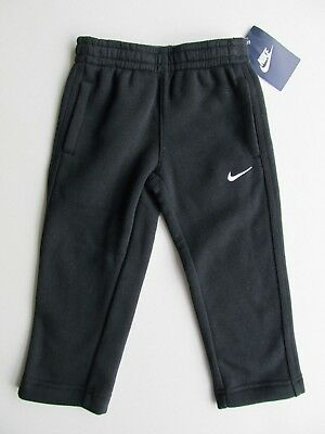 Nwt $38 Nike Toddler Boys Athletic Active Cotton Black Track Sweat Pants - 2T 4T