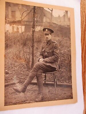 Sergeant John Soldier in Army Uniform - Old WWI Military Photograph