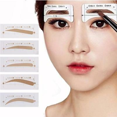 EYEBROW SHAPER TEMPLATE Stencil Shaping Brow Grooming Makeup Tool ...