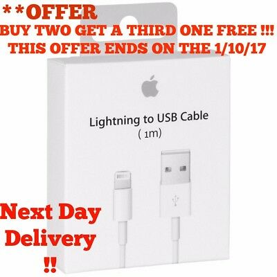 100% Genuine Apple Sync & Charger USB Data Cable For iPhone 6 5 5C 5S iPad 4 Air