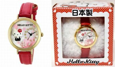 New Hello Kitty Wrist Watch MJSR-F01 White Butterfly Shell Dial Sanrio In Stock