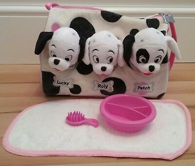 The Disney Store 101 Dalmatians Soft Toy Puppies In Bag Dog Puppy Lucky Patch
