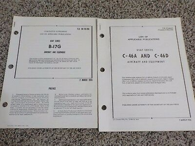 Technical Orders List of Applicable Publications C-46A & D B-17G Aircraft