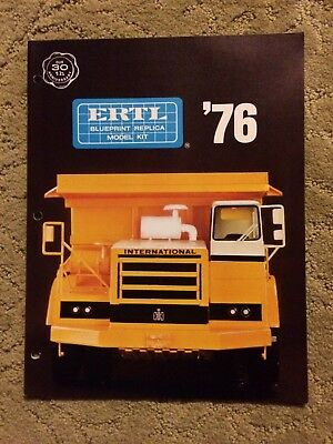 1976 Ertl Blueprint Replica Model Kit Color Dealer Catalog