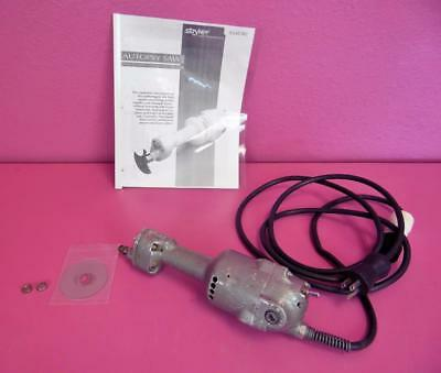Stryker Chrome Cast Cutter Autopsy Orthopedic Saw w/  New Blade