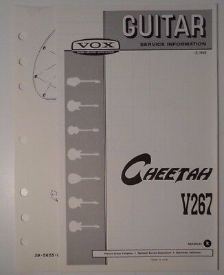 Original 1968 VOX Guitar -Ultrasonic V267  Service Information