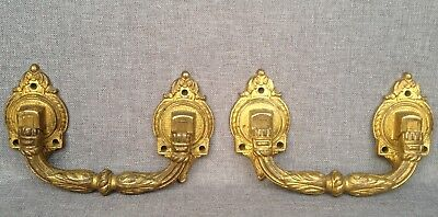 Antique pair of door handles 19th century France made of bronze Louis XVI style