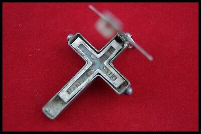 † 19Th Dnjc Henry John 4 Relic Sterling Silver Cross Reliquary Pendant France †
