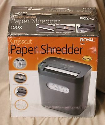 Royal 100x CrossCut 10 Sheets Shredder with Pull Out Basket