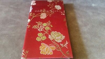 Paperchase Floral Cloth Address Book