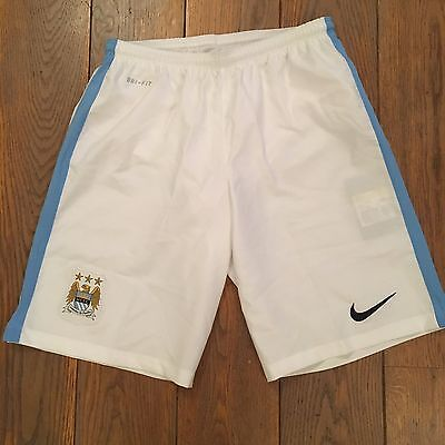 Short football MANCHESTER CITY Domicile Home Blanc Taille L Neuf