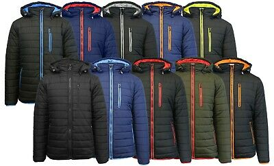 Men's Heavyweight Quilted Puffer Jacket with Hood