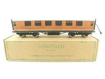 Darstaed O Gauge LNER Thompson Sleeper Coach 2/3 Rail Lit Interior Brand New Bxd