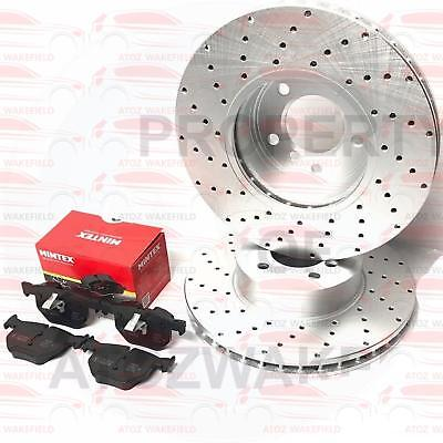 FOR BMW 5 SERIES E60 E61 530i 530d FRONT DRILLED BRAKE DISCS MINTEX PADS 324mm