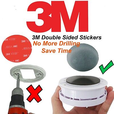 Smoke Alarm Self Adhesive Pads Mounting Fixings Fitting Double Sided Sticky Pad
