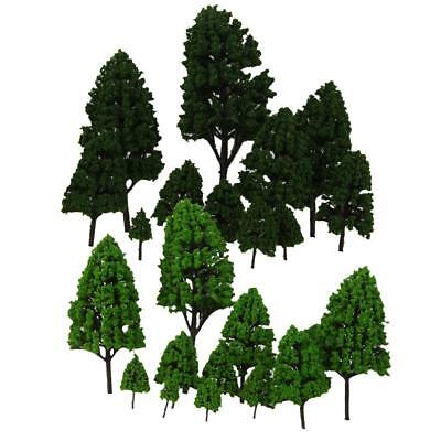 24pc Train Layout Modèle Arbres 1: 50-500 O-Z Park Forest Diorama Scenery