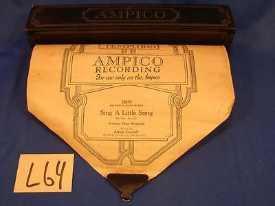 L64 Vintage Ampico Player Piano Roll 205211-E Sing A Little Song Adam Carrol