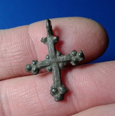 Ancient Bronze Cross. 9th to the mid-13th century.  Very Rare !!!