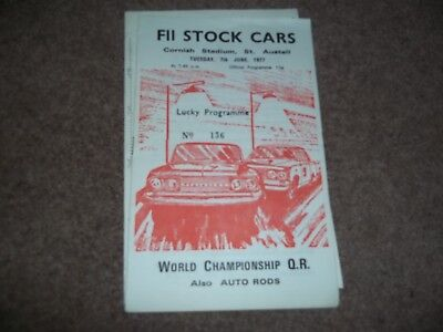 Fii Stock Cars @ Cornish Stadium St Austell World Championship Qual. 7 June 1977
