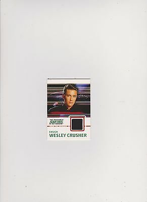 Star Trek Tng Quotable  Costume Card C9 Black Ensign Wesley Crusher
