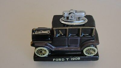 Vintage 1964 Amico Japan Table Lighter Of A Ceramic 1908 Ford Model T