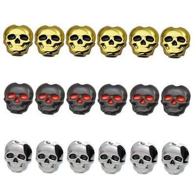 Pack of 6 Skull Shape  Guitar Tuning Pegs Keys String Buttons Knobs