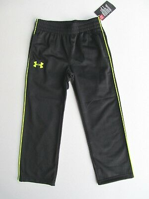 Nwt $27.99 Under Armour Active Athletic Boys Black Yellow Track Pants -  4 5 6 7